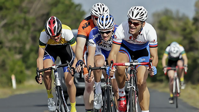Scratch riders charging hom with 8km's to go.   (38 event images)