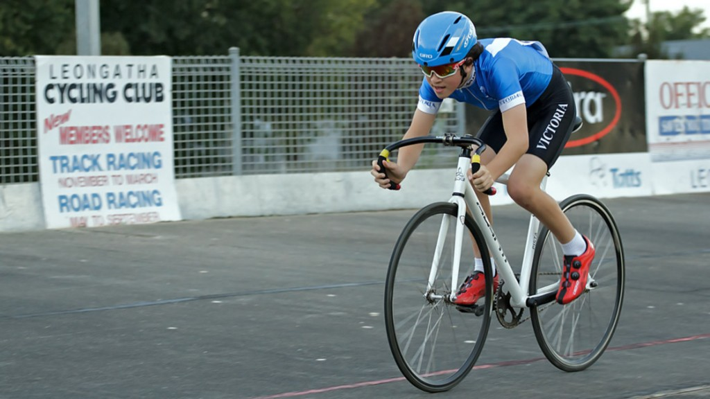 Oliver during his Time trial