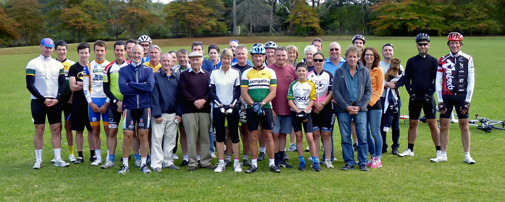 Sauvarin family and Club members gather at Koonwarra for the annual memorial ride. (click to enlarge)